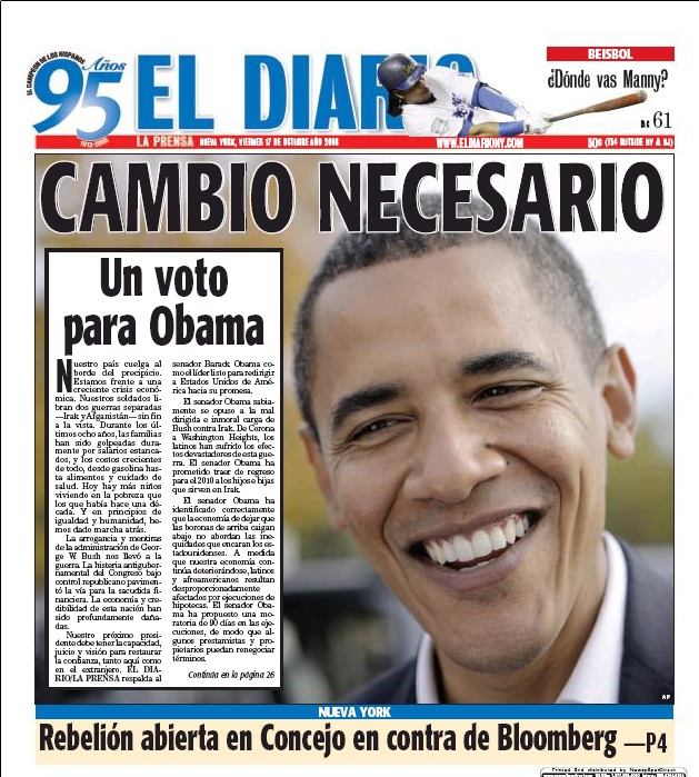 Journalism politico front page obama