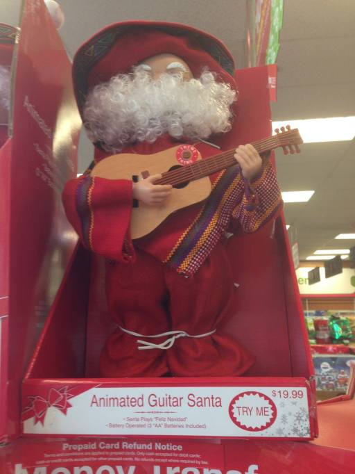 Photographic proof of Santa's Hispanicness -and penchant for singing in Spanish