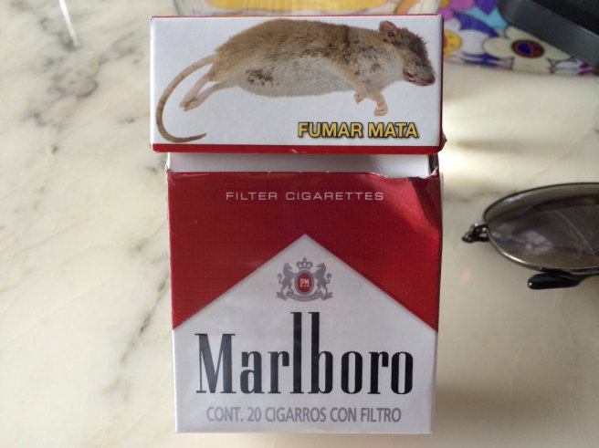 The infamous dead rat is back on Mexico's cigarettes packaging.