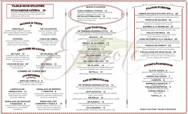 You can also get a $12 quesadilla de huitlacoche