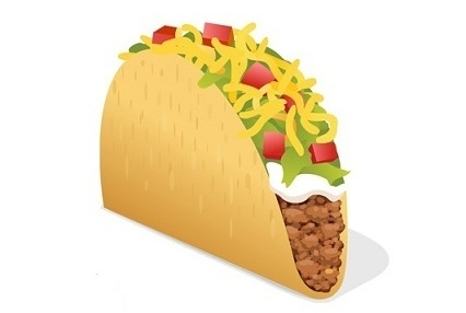 The proposed taco emoji by Taco Bell