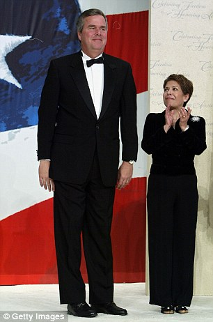 Jeb Bush with [tiny] Mexican wife, Columba