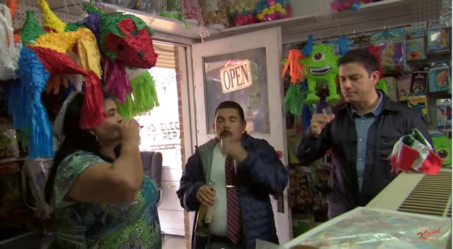 These guys will take a shot of tequila every time someone says 'piñata'