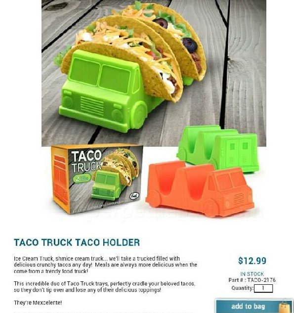 Because make believe 'tacos' must be held, somehow